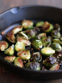 Roasted Brussels Sprouts with Sriracha Honey Drizzle by dashoffeast #Brusse_Sprouts #Sriracha #Honey