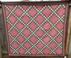 Circa 1870-1910 Double Irish Chain Quilt