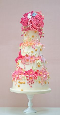 Beautiful Cake Pictures: Amazing Tiers of Flowers: Cakes with Flowers, Colorful Cakes, Wedding Cakes