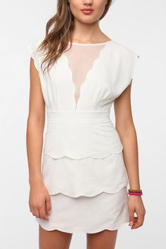 Cooperative Scalloped Peplum Dress  #UrbanOutfitters