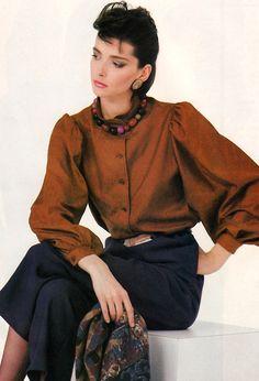 Paul Amato for Vogue Patterns magazine, September/October 80s Fashion, Vintage Fashion, Womens Fashion, 80s Outfit, Princess Caroline, Vogue Patterns, Vintage Glamour, Vintage Looks, Retro