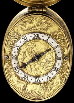 engraved gilt brass and silver watch, signed 'Gribelin A Blois' France, circa 1614