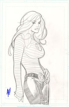 Jean Grey by Adam Hughes