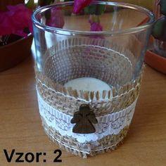 Sklenený svietnik Jarko - Sviečka - S čajovou sviečkou (plus 0,10€), Vzor - Vzor 2