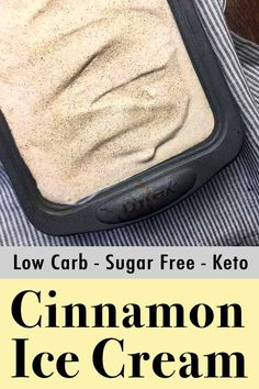 This low carb cinnamon and brown sugar ice cream is to die for. And each scoop has just net carbs. This low carb cinnamon and brown sugar ice cream is to die for. And each scoop has just net carbs. Cheesecake Ice Cream, Low Carb Cheesecake, Low Carb Desserts, Low Carb Recipes, Banting Desserts, Dessert Recipes, Ketogenic Recipes, Dessert Ideas, Ketogenic Diet