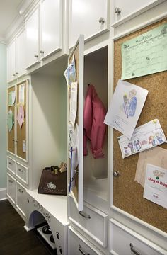 Suzie: Knotting Hill Interiors - Fantastic mudroom with wall to wall built-in floor to ceiling ...