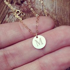 GOLD INTIAL necklace  tiny gold initial necklace by MyBelovedAndCo, $34.99