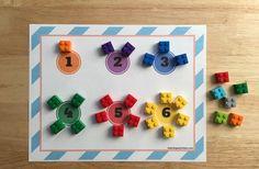 Contar y clasificar por colores ladrillos LEGO - MOM BRICKS