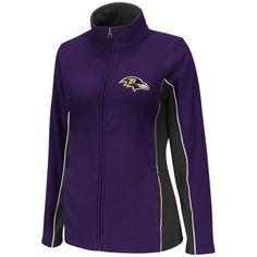 Baltimore Ravens Ladies Game Theory Full Zip Jacket - Purple