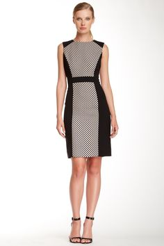 ASL Dot Contrast Sheath Dress by Tahari on @nordstrom_rack