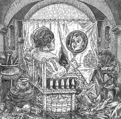 ☆ Astronaut Sixface Skull Illusion Art By :→: Robert Tusker ☆ Mc Escher, Memento Mori, Image Illusion, Illusion Pictures, Maleficarum, Illusion Drawings, Hidden Images, Scary Art, Weird Art