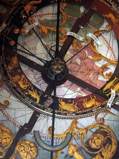 Münster Cathedral's astronomical clock. Detail.