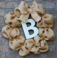 Burlap Wreath with Initial | Artastic Craft Studio