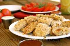 Healthy Homestyle Baked Chicken Nuggets - use w/w flour, w/w Panko, low sugar or organic ketchup (pref one and the same)