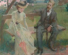 dáma v parku pán v parku 1900 kuba ludvík