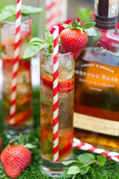 Kentucky Derby Strawberry Basil Mint Julep
