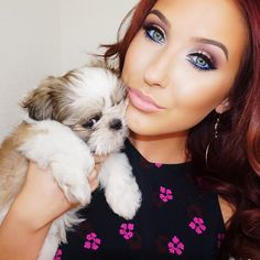 """""""Frankie giving the sweetest side eye I've ever seen!  Eyes are @anastasiabeverlyhills Artist Palette with creme color in """"Ocean"""" on the water line. #highlightonfleek"""" Photo taken by @jaclynhill on Instagram, pinned via the InstaPin iOS App! http://www.instapinapp.com (06/12/2015)"""