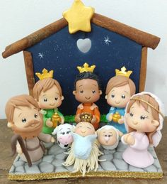 Christmas Nativity, Christmas Cookies, Christmas Ornaments, Arts And Crafts, Paper Crafts, Clay Ornaments, Pasta Flexible, Wonderful Time, Biscuits