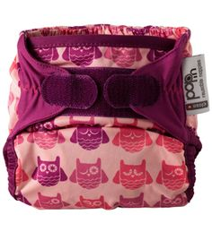 Pop-In New Generation all-in-one one-size nappy, bamboo, Print - Owl