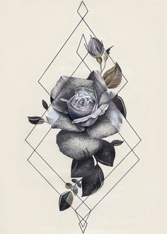 Image result for flower tattoo triangle