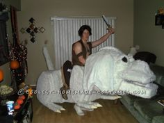 Amazingly Awesome Falkor and Atreyu Homemade Costume!... Halloween Costume Contest