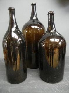 antique wine | French antique wine bottles XIX Cth