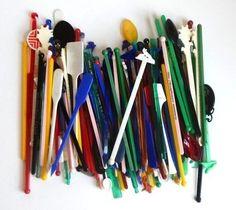 Vintage Lot of Swizzle Sticks