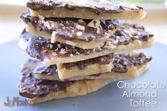 Chocolate Almond Toffee #Recipe   Great to give to the neighbors