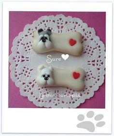 """""""I Love my Dog"""", Perros en porcelana fría, Puppy dog,"""