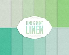 Linen Digital Paper: Lime and Mint Linen with by DigiWorkshop