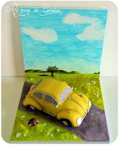 Gâteau voiture coccinelle VW