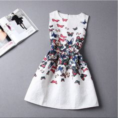 Casual Round Neck Floral Print Mini Dress – Daisy Dress For Less