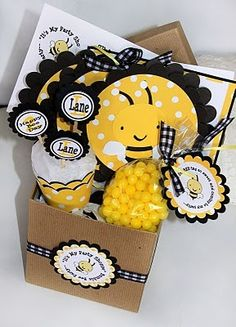 Ustom Bumble Bee Birthday Party Kit