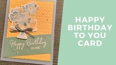 Watercoloring with Wink of Stella! Rubber Stamping Techniques, Wink Of Stella, Handmade Birthday Cards, Stamping Up, Stampin Up Cards, Your Cards, Are You Happy, Happy Birthday, Paper Crafts