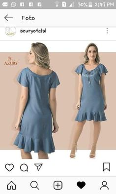 Casual Summer Outfits, Casual Dresses, Fashion Dresses, Jeans Dress, I Dress, Vestido Casual, Outfit Combinations, Lovely Dresses, Women Wear