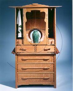 Arnold d'Epagnier's Furniture - Mission Evolution: Arnold d'Epagnier 21st Century Arts & Crafts Furniture Arts And Crafts Furniture, Handmade Furniture, Furniture Design, Cabinet Fronts, Arts And Crafts Movement, 21st Century, Evolution, Art Nouveau, Dining Room
