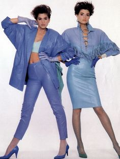 cindy crawford style The Supermodels of the - Cindy Crawford (left) in North Beach Leather. Fashion Guys, 80s And 90s Fashion, Retro Fashion, Vintage Fashion, Womens Fashion, Fashion Trends, Fashion Fashion, Hip Hop Outfits, 1990 Style