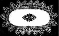 CHARMING NEW TATTING DESIGN AN OVAL DOYLEY — VANDYKE DESIGN     The Australasian (Melbourne, Vic. : 1864 - 1946) Saturday 12 January 1935 p 16