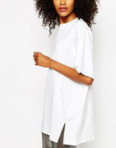 Monki Crew Neck Oversized T-Shirt Dress