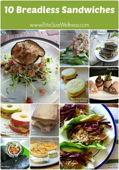 10 breadless sandwich ideas! BiteSizeWellness.com