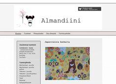 Almandiinin puodissa myydään japanilaisia kankaita. Almandiini toimii myös itse kankaiden maahantuojana Japanista.