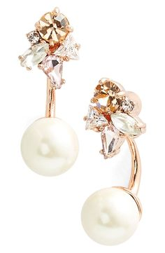 kate spade new york 'dainty sparklers' drop back earrings