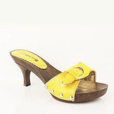 WOMENS LADIES PLATFORM SLIP ON MID HIGH KITTEN HEEL MULES SHOES SANDALS SIZE 3-7