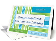 Employee Anniversary Congratulations On Your Anniversary card