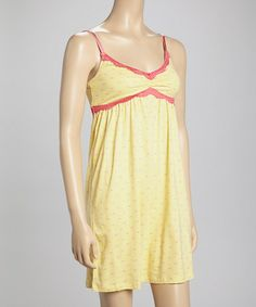 Another great find on #zulily! Yellow Teeny Pigs Lace Nightgown by munki munki #zulilyfinds