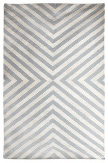 Jonathan Adler Bridget Gray/Natural Handwoven Rug - Modern - Rugs - by Zinc Door