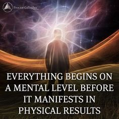 Everything begins in the spiritual before it manifests in the physical world. What are you creating in the spiritual (in your mind?) #bobproctor #loa #visualize #manifest #manifestation