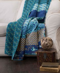 This Peacock Royal Empire Dual-Sided Throw is perfect! #zulilyfinds