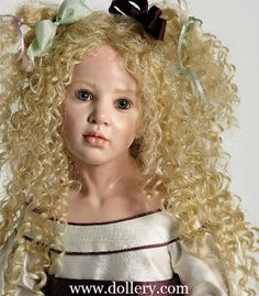 *HILDEGARD GUNZEL ~ Collectible Dolls  Can't resist the curly hair......