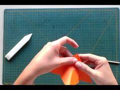 Flor de origami - tutorial - YouTube